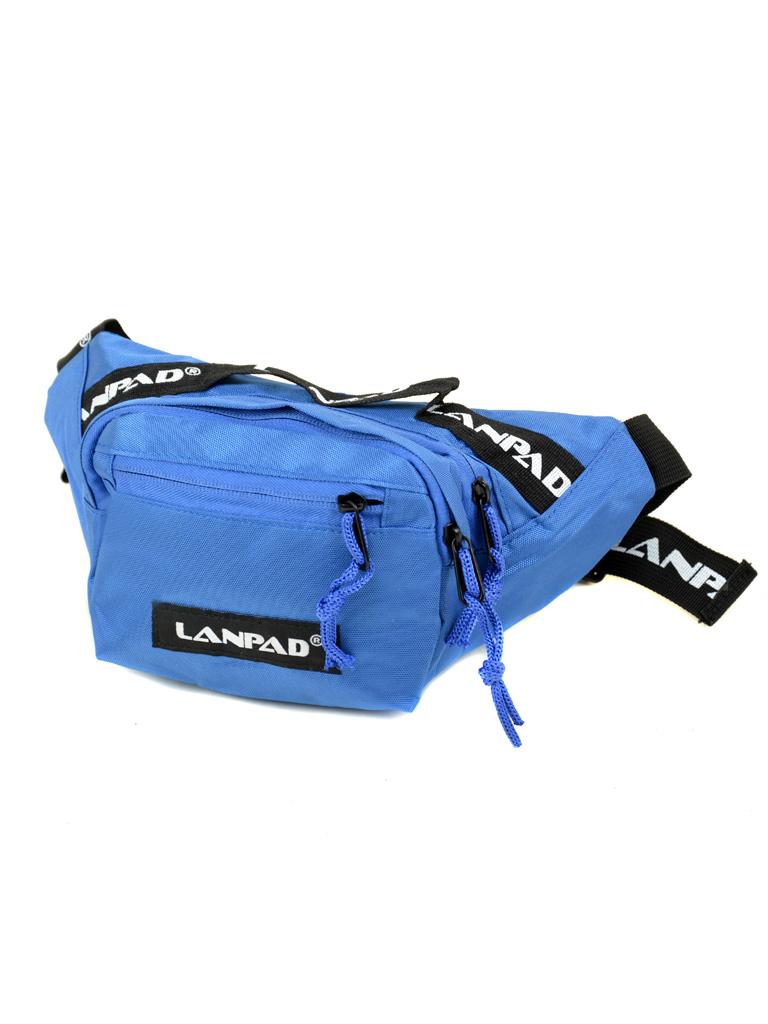 Сумка Мужская На пояс нейлон Lanpad 301 blue