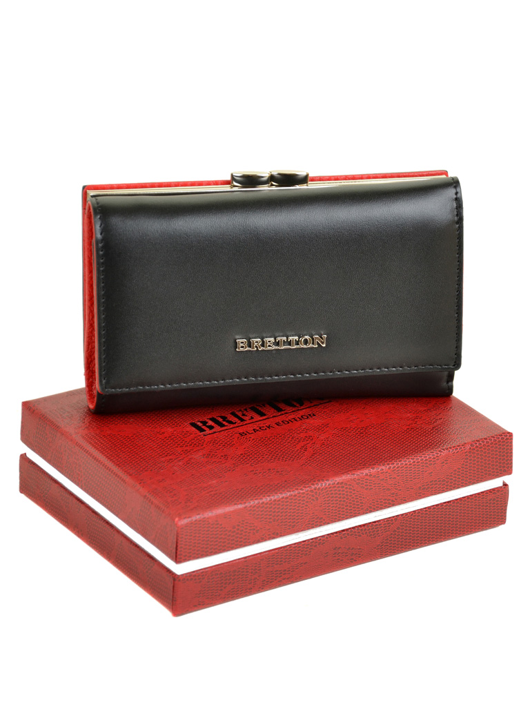 Кошелек Color женский кожаный BRETTON W5520 black