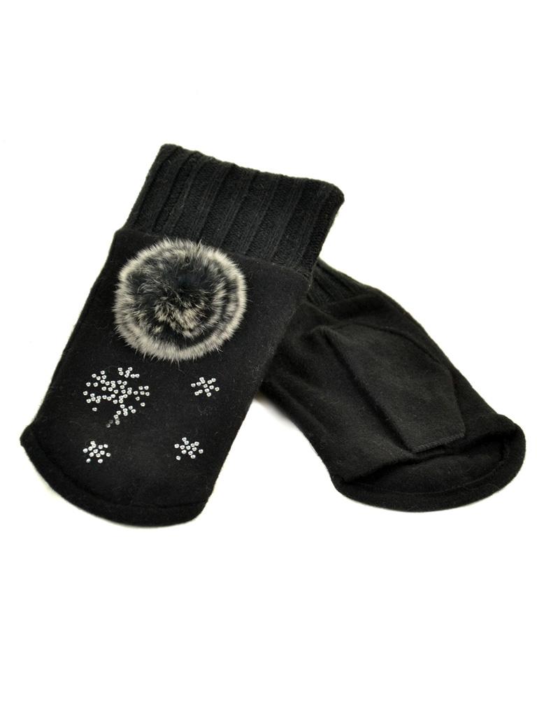 Перчатка Женская вязка FO-3 black