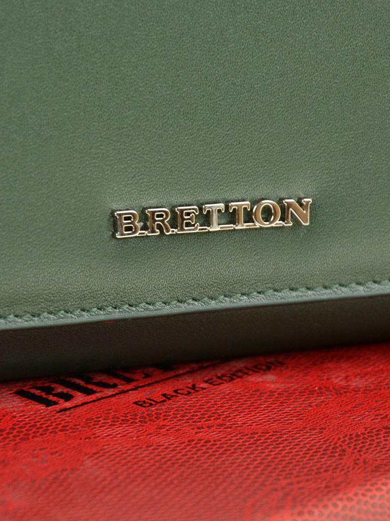 Кошелек Color женский кожаный BRETTON W7232 green - фото 3