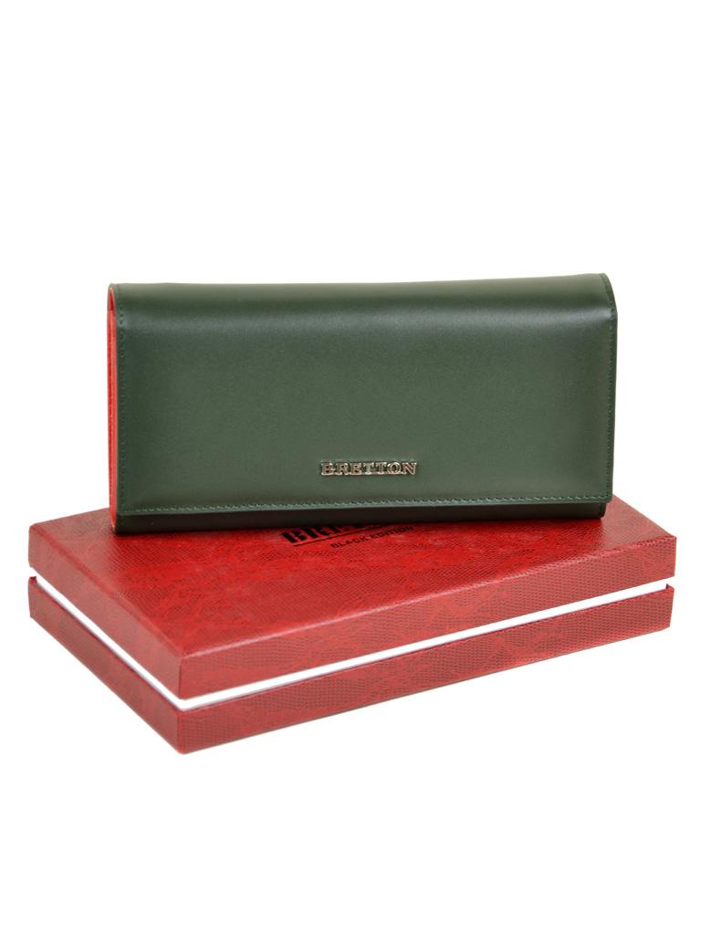 Кошелек Color женский кожаный BRETTON W7232 green