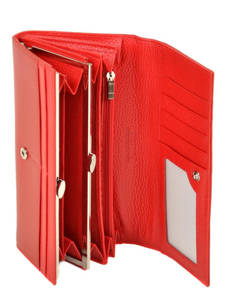 Кошелек Color женский кожаный BRETTON W7232 red - фото 4