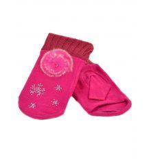 Перчатка Женская вязка FO-3 pink Распродажа
