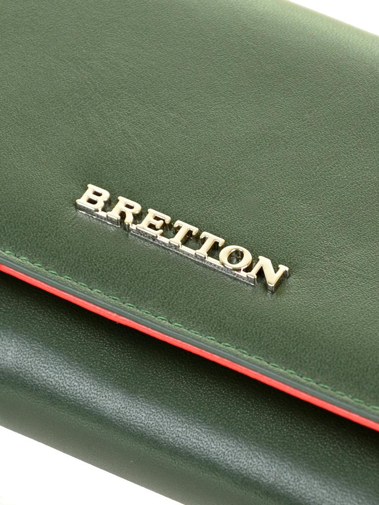 Кошелек Color женский кожаный BRETTON W5520 green - фото 3