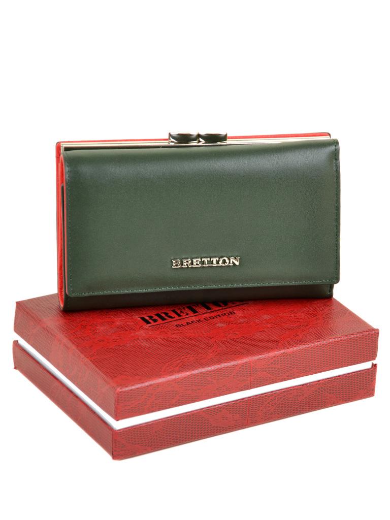Кошелек Color женский кожаный BRETTON W5520 green