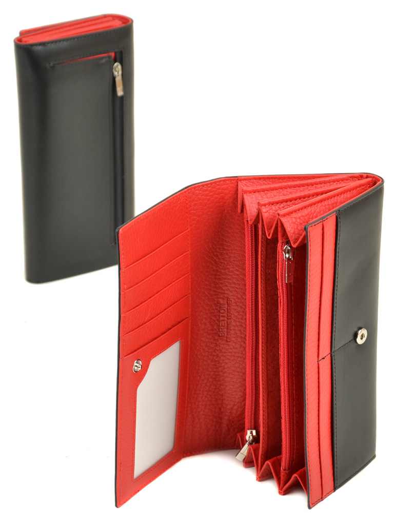 Кошелек Color женский кожаный BRETTON W7237 black - фото 4