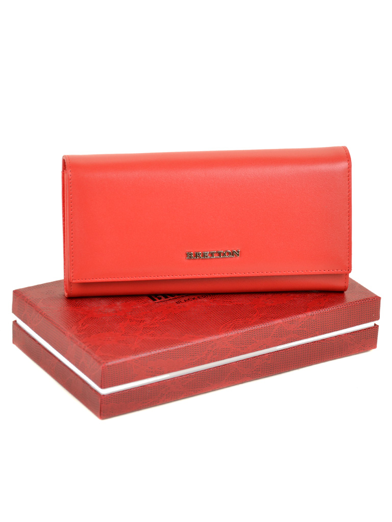 Кошелек Color женский кожаный BRETTON W7237 red