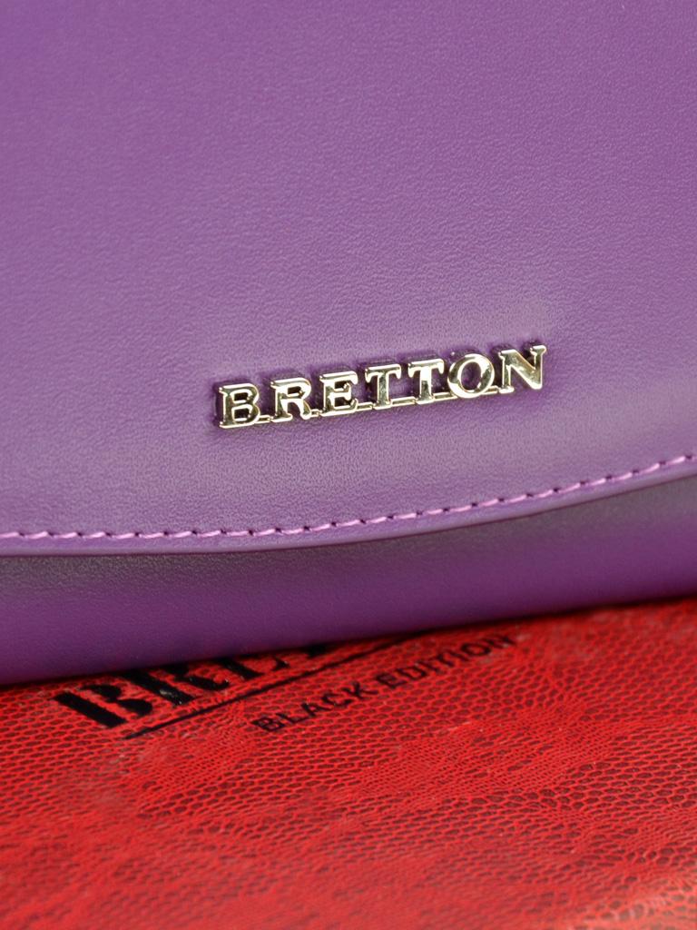 Кошелек Color женский кожаный BRETTON W5458 purple - фото 3