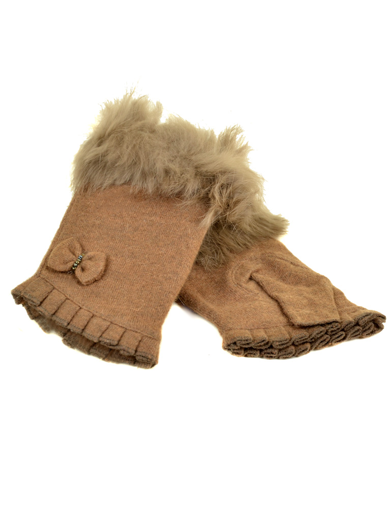 Перчатка Женская кашемир FO-1 l-brown