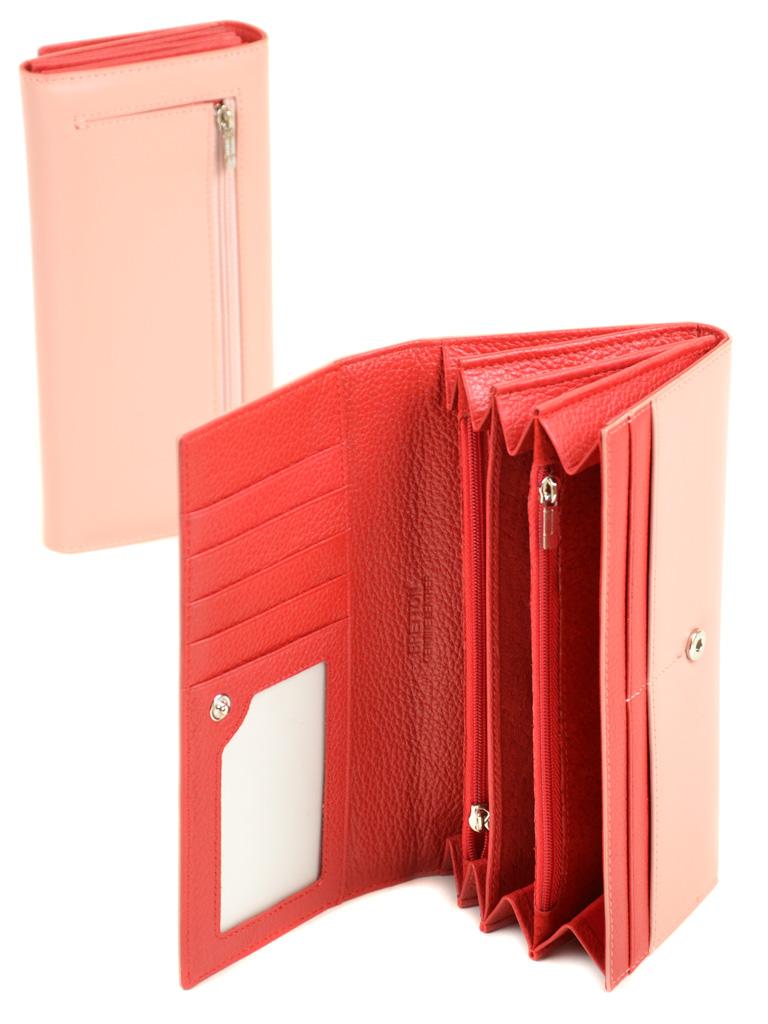 Кошелек Color женский кожаный BRETTON W7237 pink - фото 4