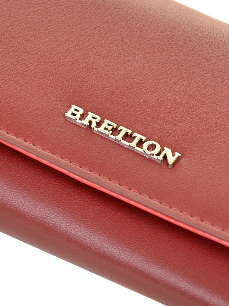 Кошелек Color женский кожаный BRETTON W5520 d-red - фото 3