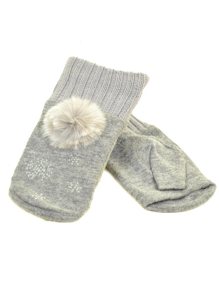 Перчатка Женская вязка FO-3 grey