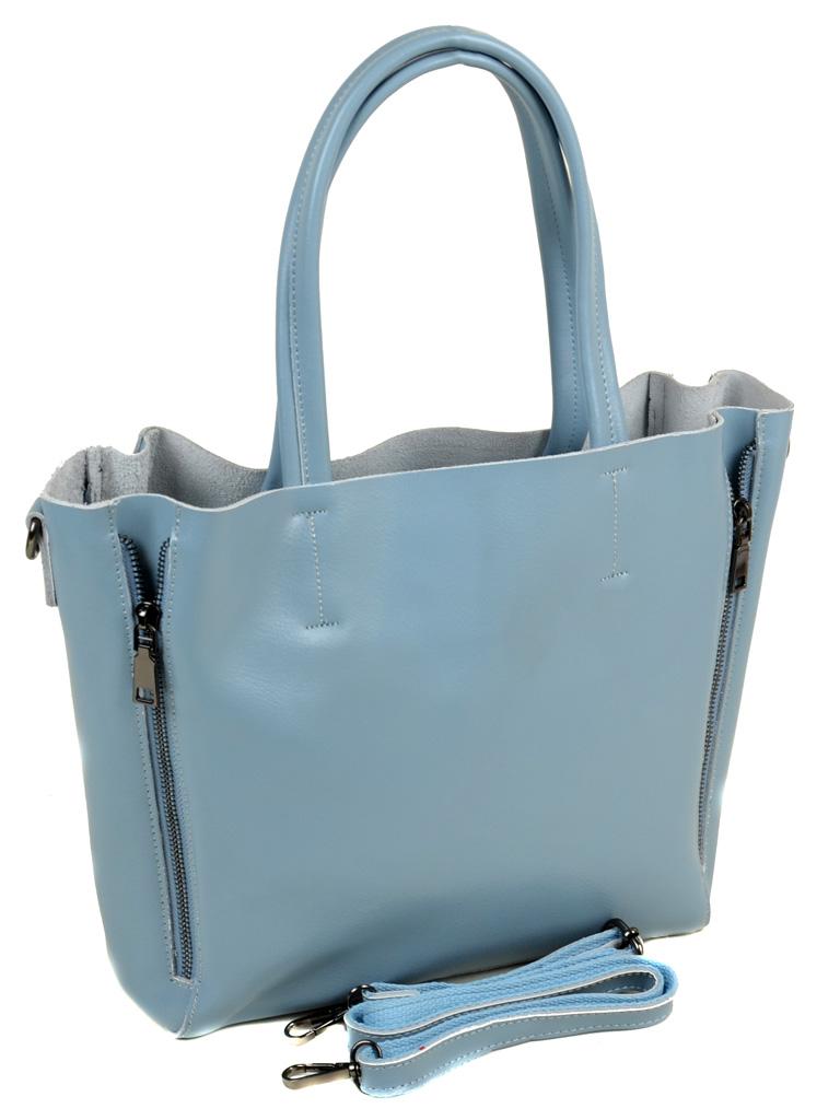 Сумка Женская Классическая кожа ALEX RAI 03-1 8650 light-blue - фото 4