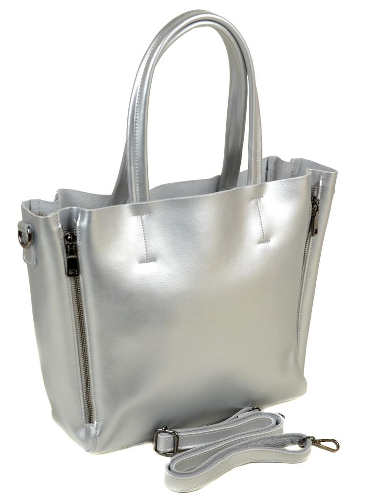 Сумка Женская Классическая кожа ALEX RAI 03-1 8650 silver - фото 4