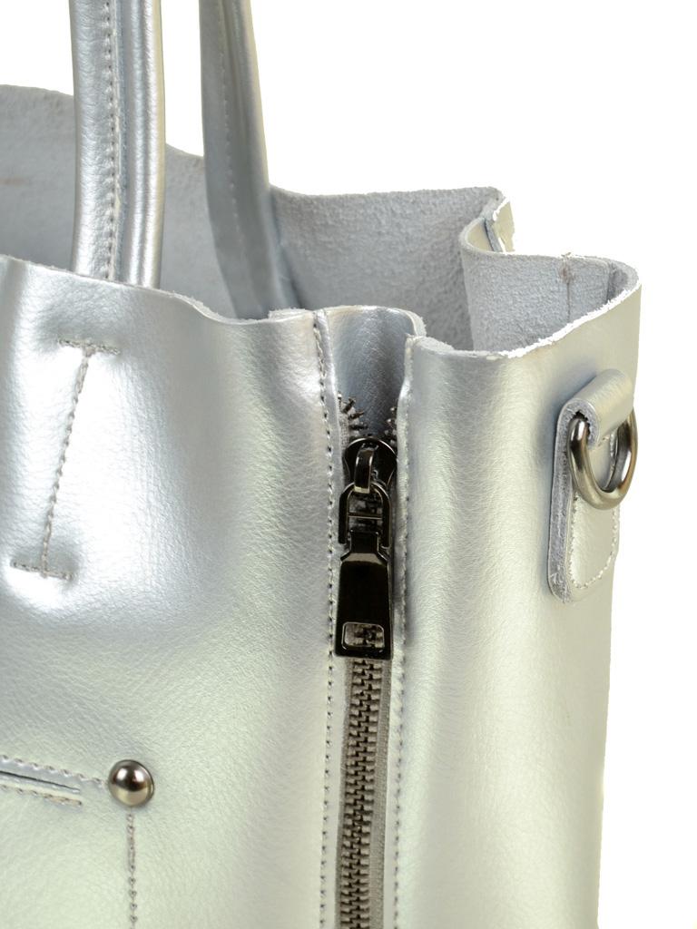 Сумка Женская Классическая кожа ALEX RAI 03-1 8650 silver - фото 3