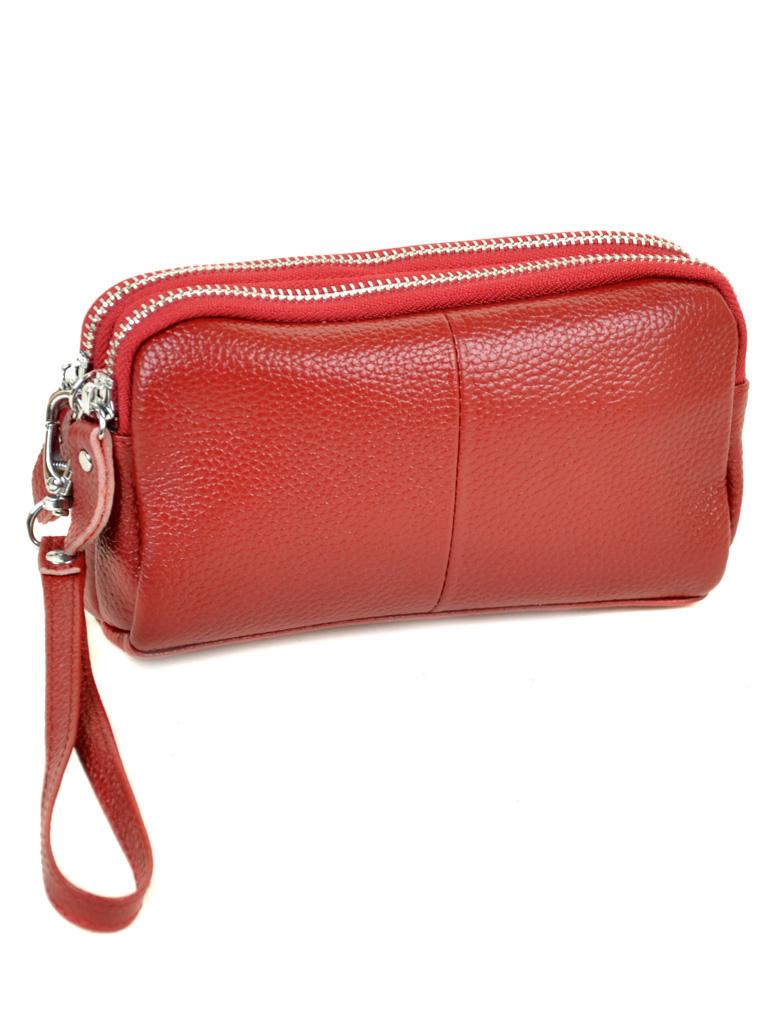 Кошелек кожаный 6002-A red