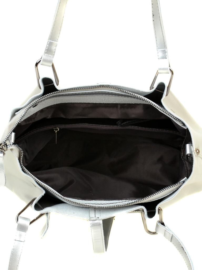 Сумка Женская Классическая кожа ALEX RAI 03-1 317 silver-white - фото 5
