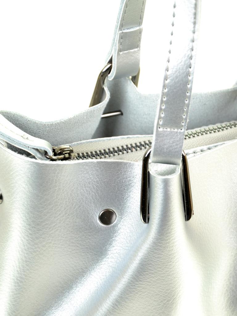 Сумка Женская Классическая кожа ALEX RAI 03-1 317 silver-white - фото 3