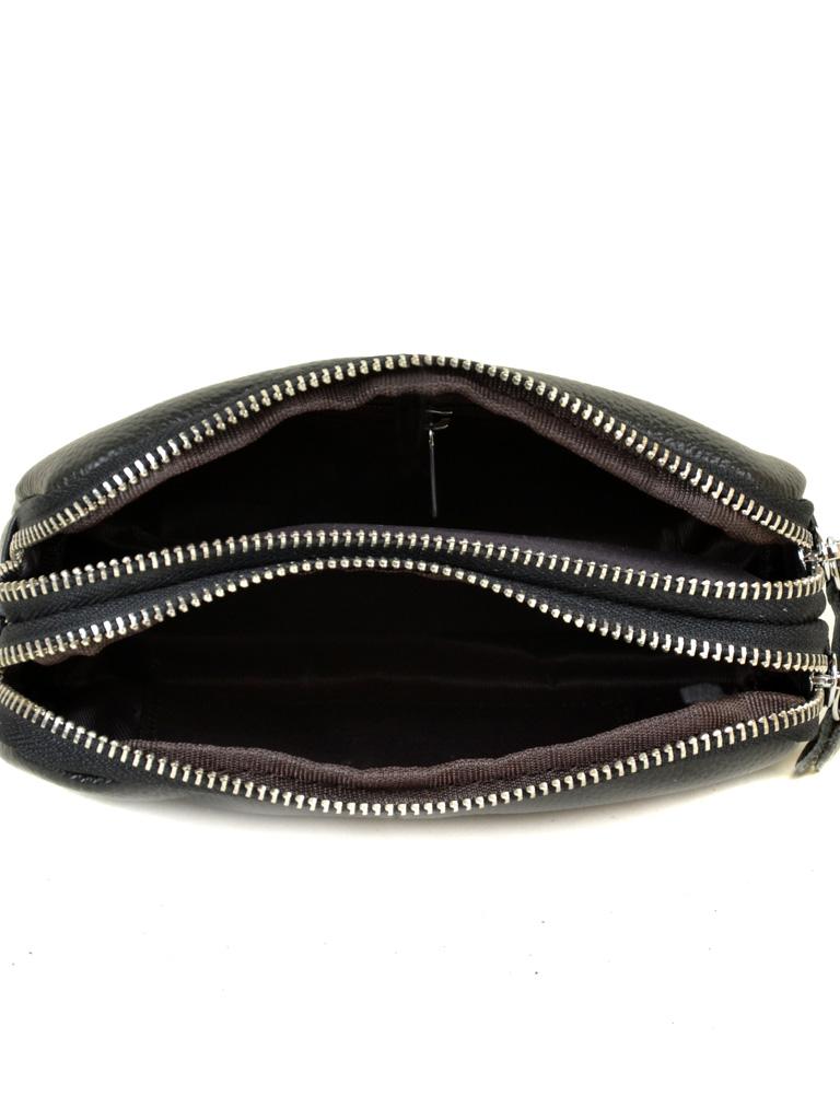 Кошелек кожаный 6002-A black - фото 3