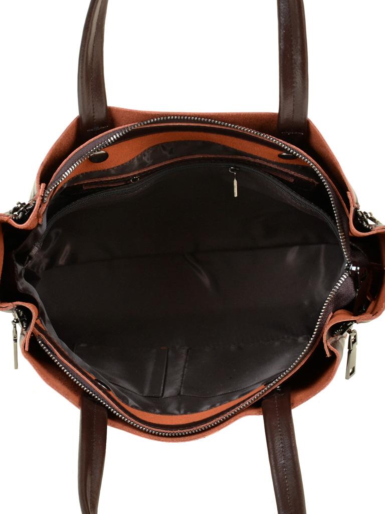 Сумка Женская Классическая кожа ALEX RAI 03-1 8650 brown - фото 5