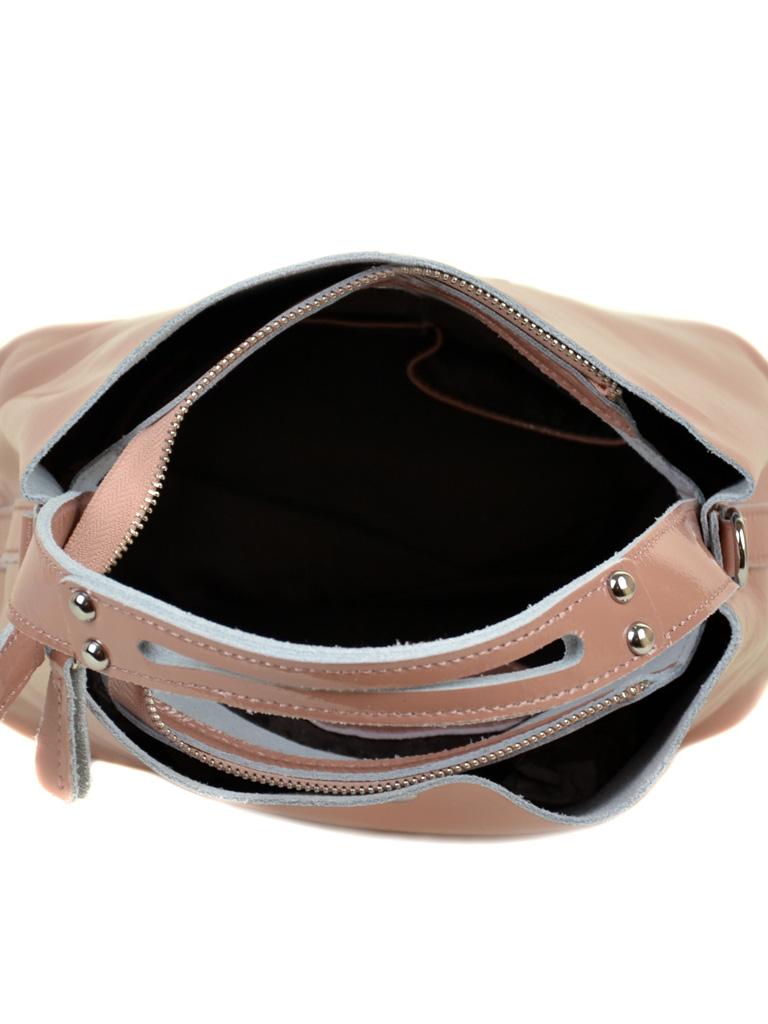 Сумка Женская Классическая кожа-лак 03-3 L8641 pink - фото 5