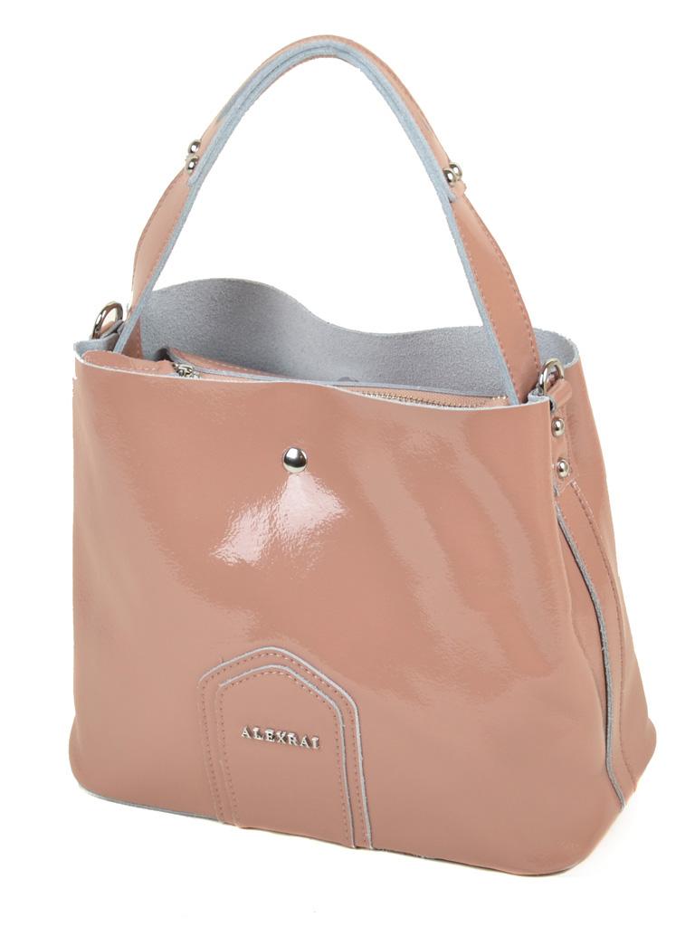 Сумка Женская Классическая кожа-лак 03-3 L8641 pink