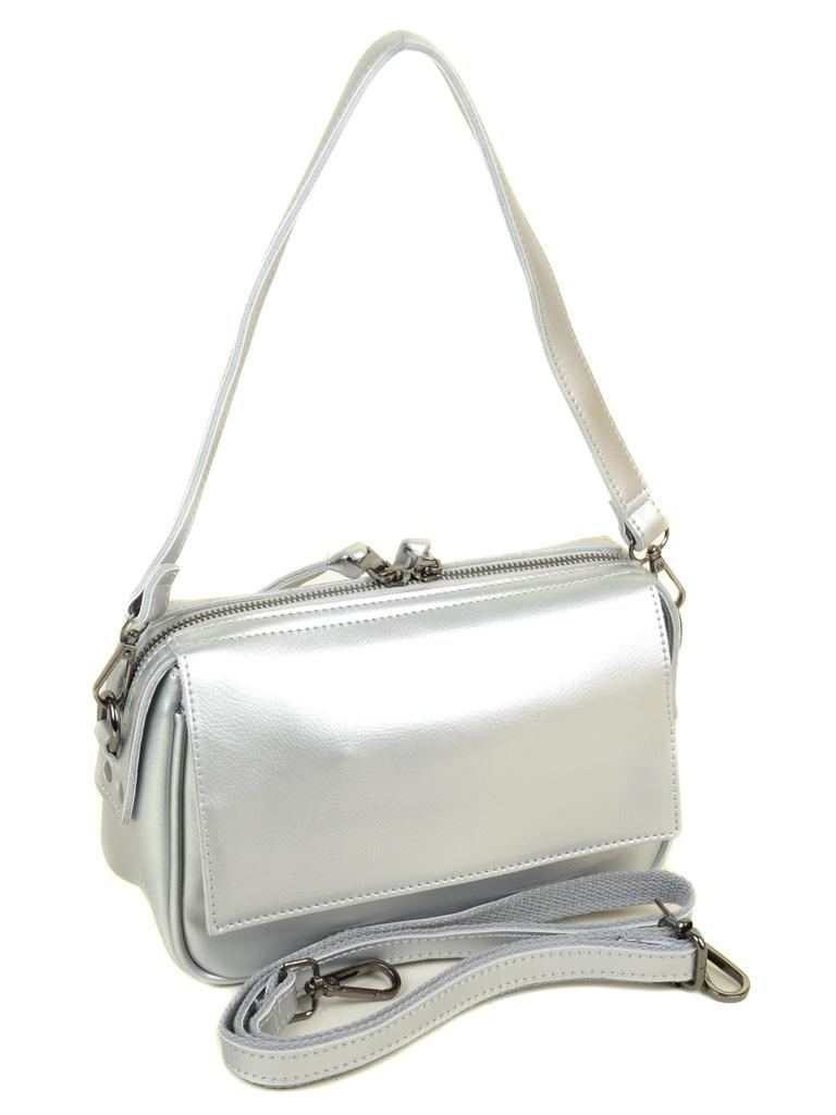 Сумка Женская Клатч кожа ALEX RAI 03-4 2227 silver-white - фото 4
