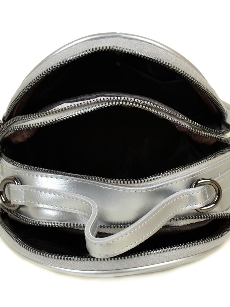 Сумка Женская Рюкзак кожа ALEX RAI 03-4 1189 silver-white - фото 5