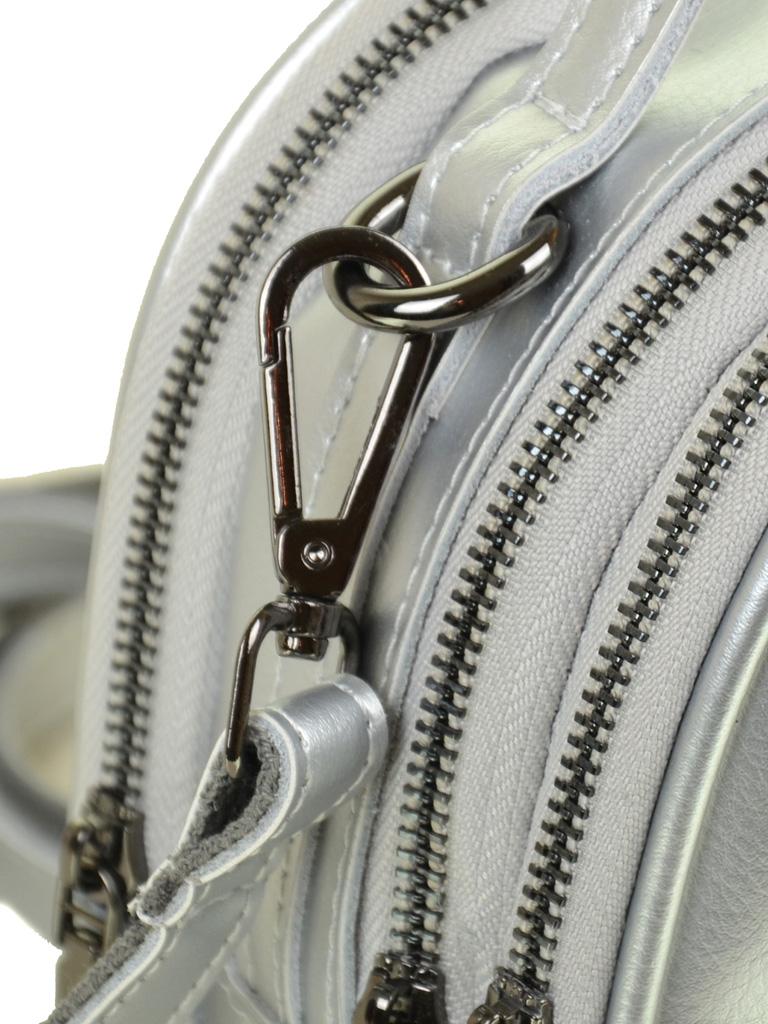 Сумка Женская Рюкзак кожа ALEX RAI 03-4 1189 silver-white - фото 3