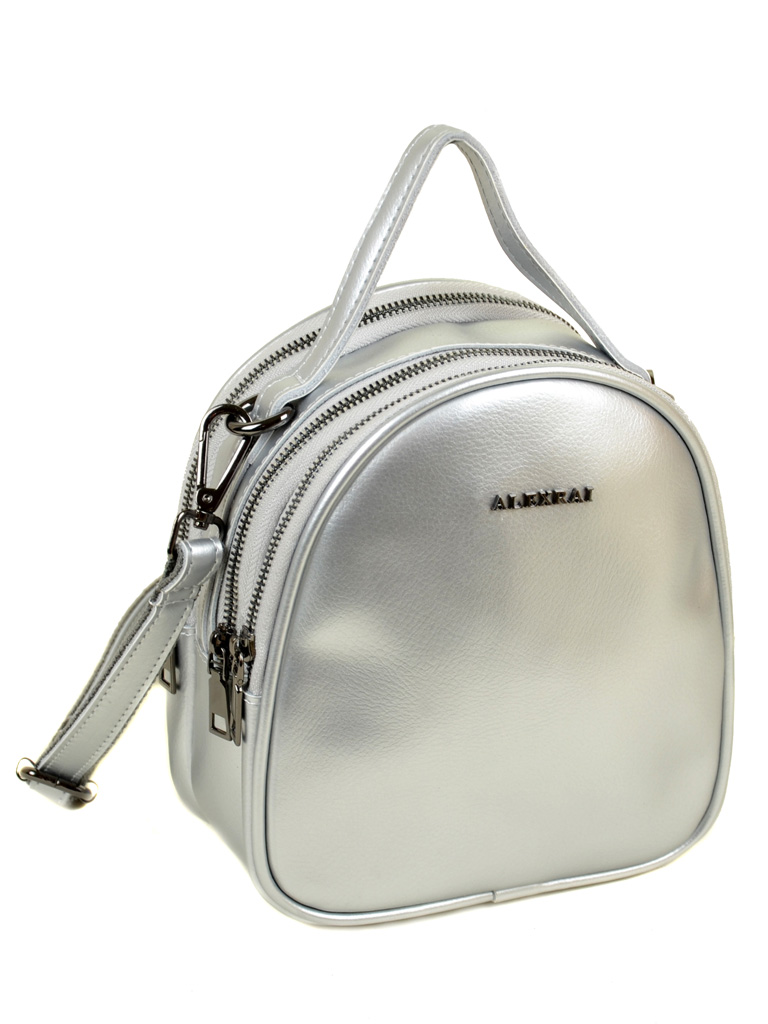 Сумка Женская Рюкзак кожа ALEX RAI 03-4 1189 silver-white