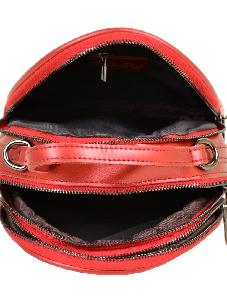Сумка Женская Рюкзак кожа ALEX RAI 03-4 1189 bright-red