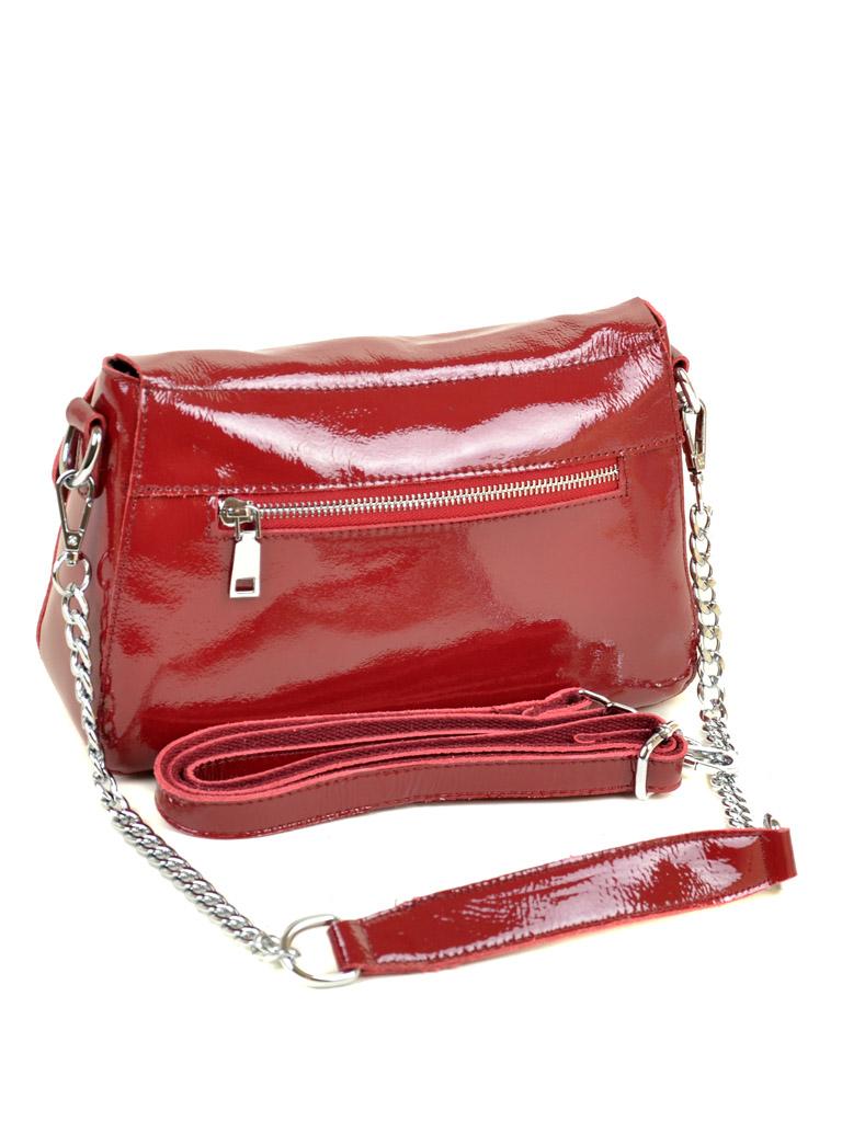 Сумка Женская Классическая кожа-лак 03-3 8723-3 red-white