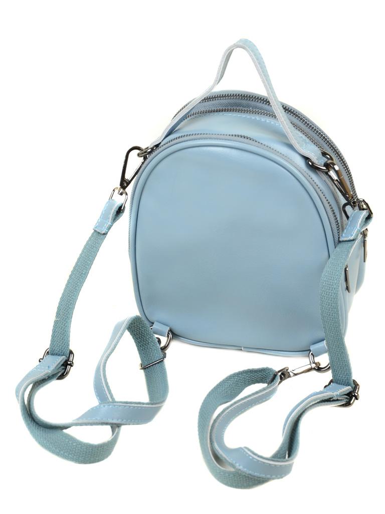 Сумка Женская Рюкзак кожа ALEX RAI 03-4 1189 l-blue - фото 4