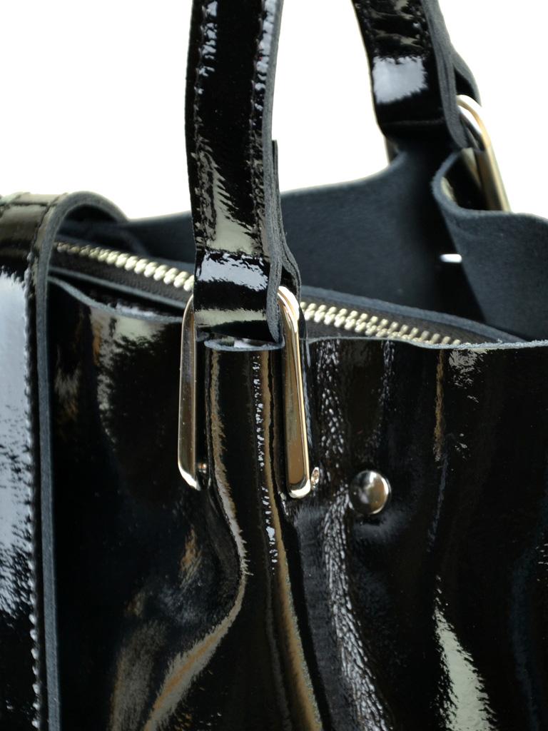 Сумка Женская Классическая кожа-лак 03-3 L317 Black
