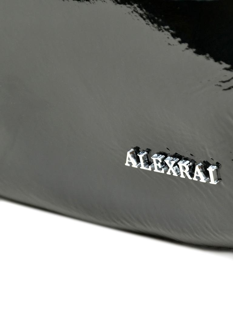 Сумка Женская Классическая кожа-лак 03-3 L8605 black - фото 3