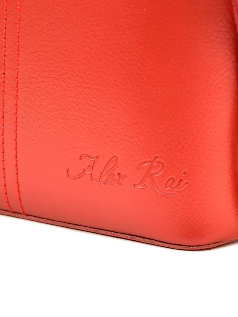 Сумка Женская Клатч кожа ALEX RAI 03-4 8803 bright-red - фото 3
