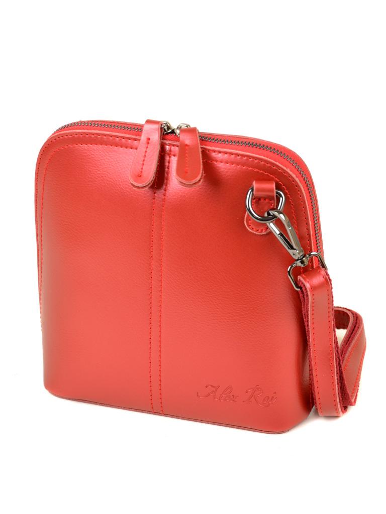 Сумка Женская Клатч кожа ALEX RAI 03-4 8803 bright-red