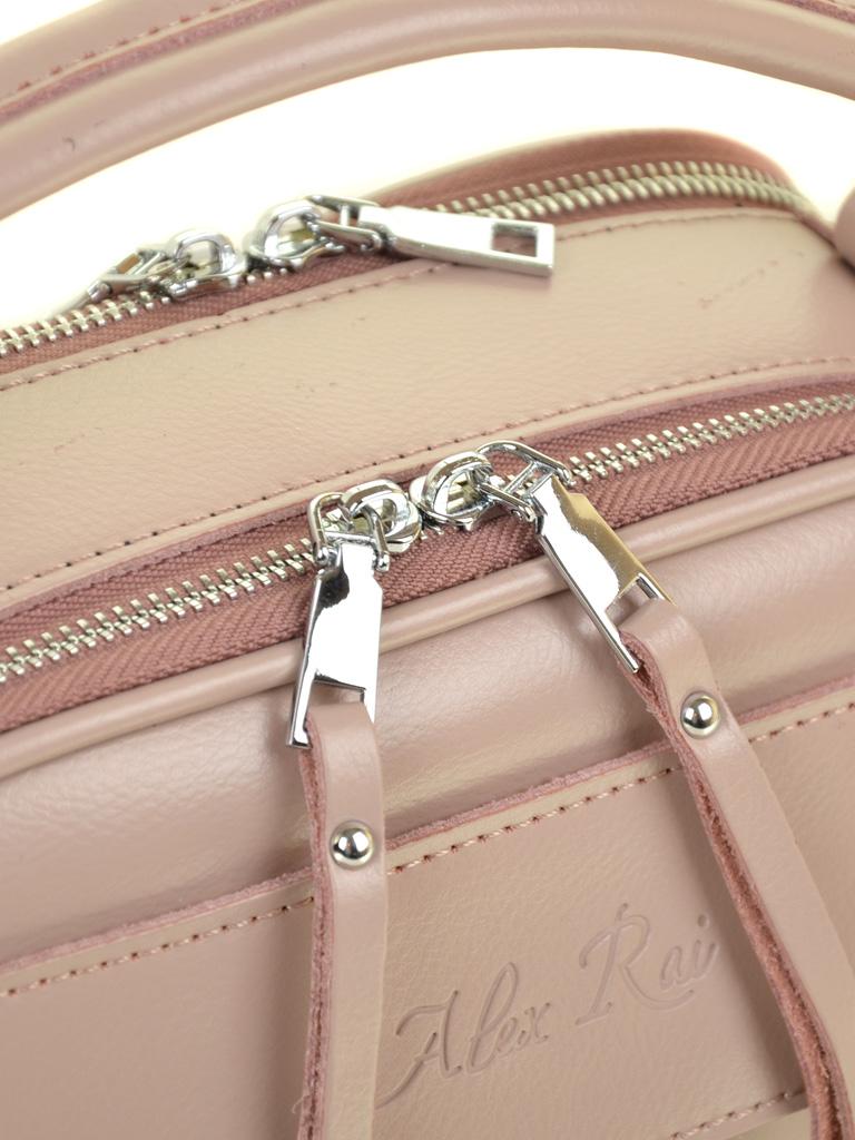 Сумка Женская Корзина кожа ALEX RAI 03-4 8539 light-pink - фото 3