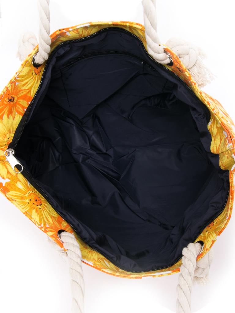 Сумка Женская Пляжная текстиль PODIUM 2019-2 yellow цветочек