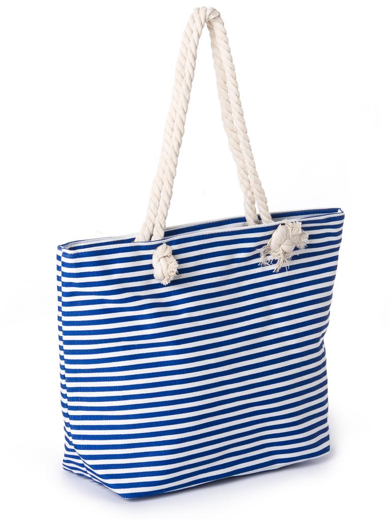 Сумка Женская Пляжная текстиль PODIUM 2019-3 l-blue полоска