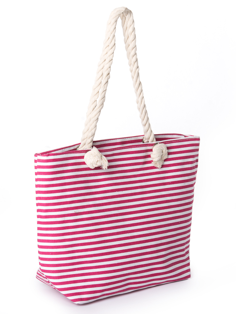 Сумка Женская Пляжная текстиль PODIUM 2019-3 pink полоска
