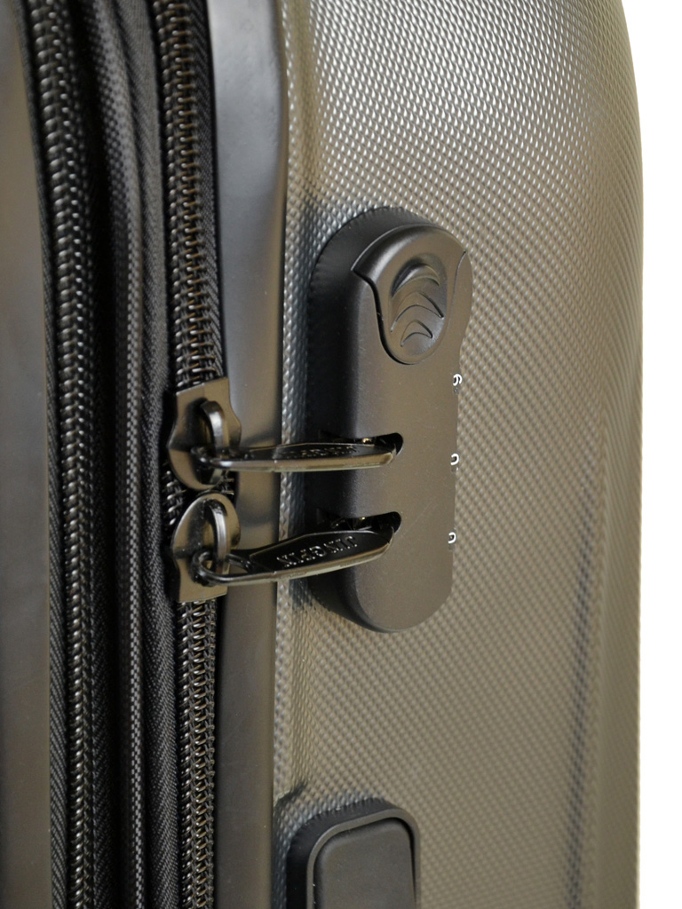 Дорожная Чемодан 1 Маленький ABS-пластик 8386 grey змейка