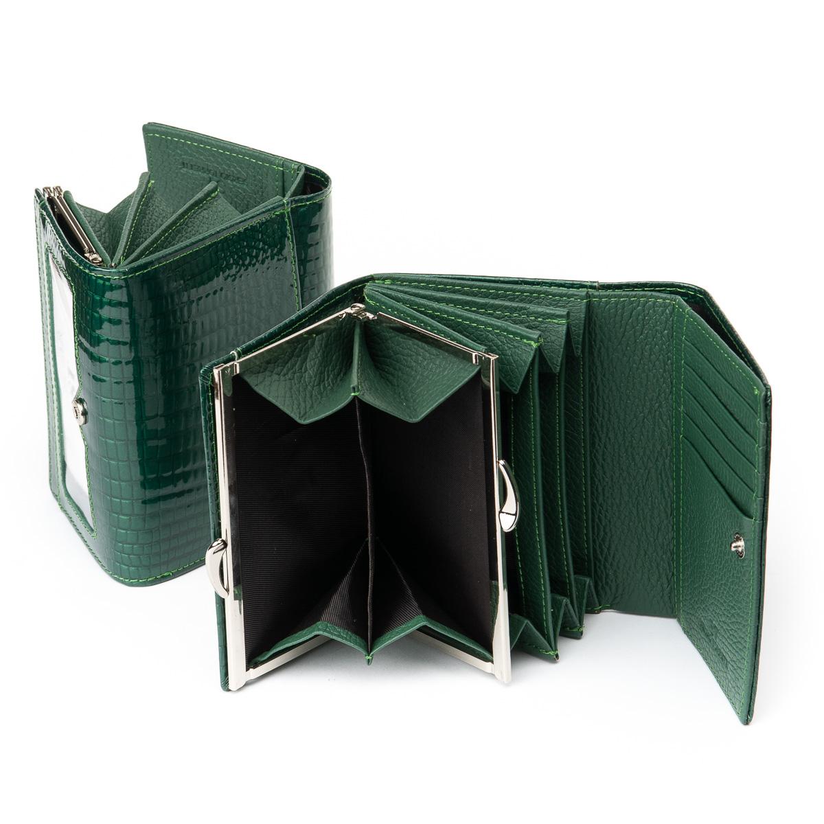 Кошелек LR кожа-лак SERGIO TORRETTI WS-12 dark-green - фото 4