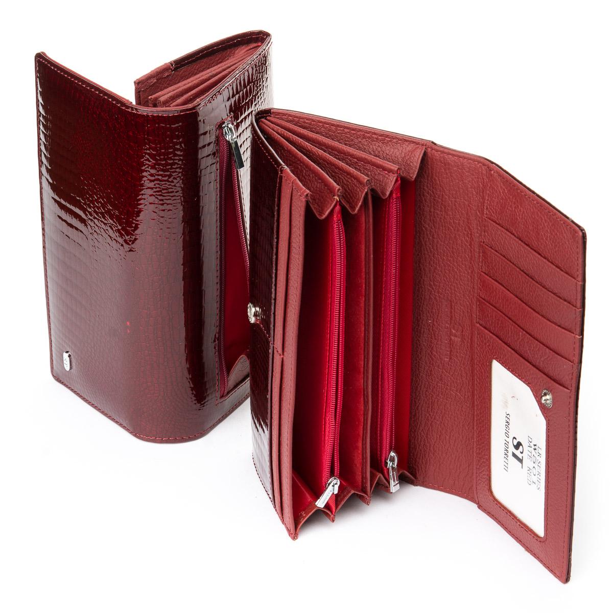 Кошелек LR кожа-лак SERGIO TORRETTI W501 date-red