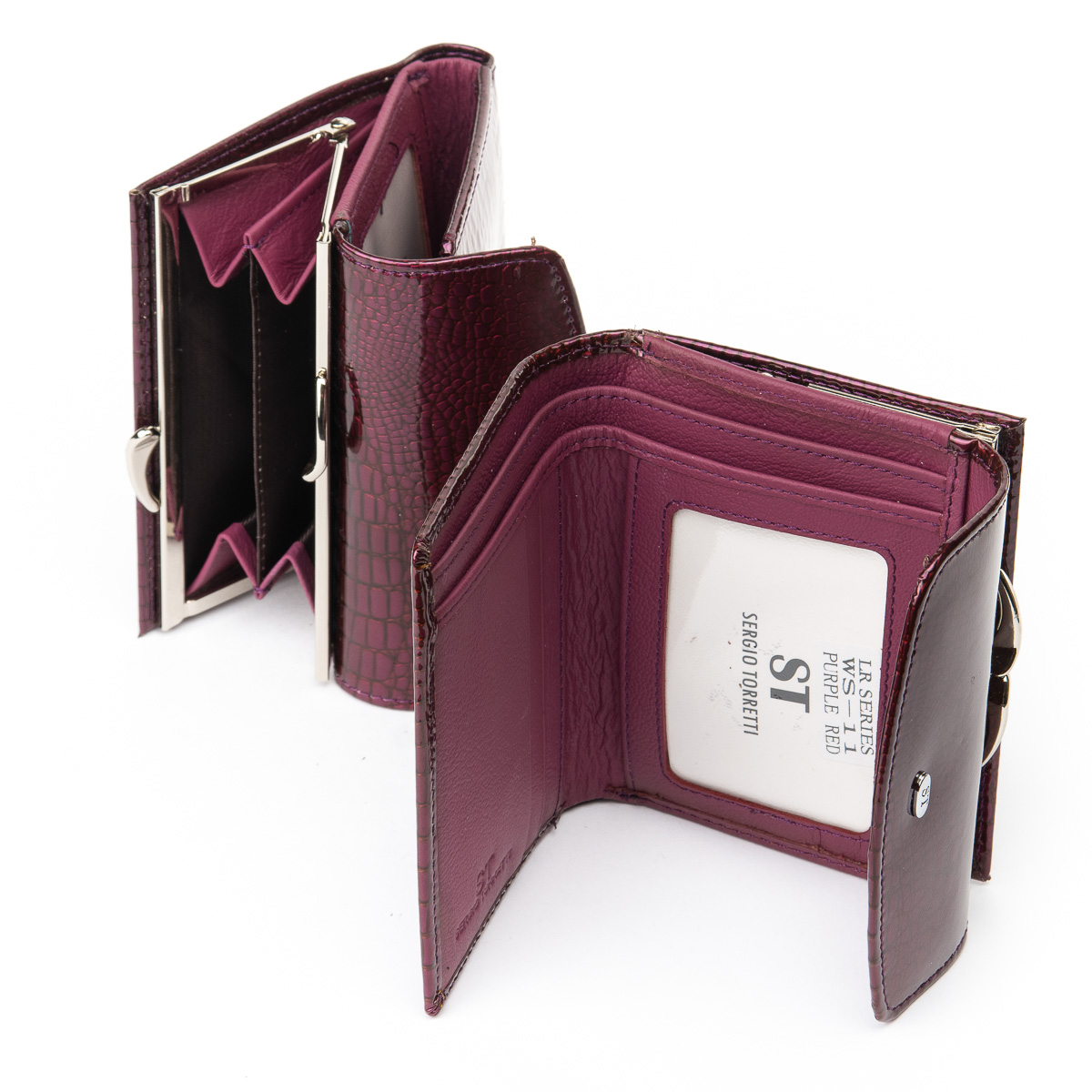 Кошелек LR кожа-лак SERGIO TORRETTI WS-11 purple-red