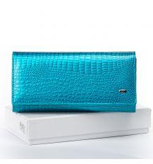 Кошелек LR кожа-лак SERGIO TORRETTI W501 light-blue