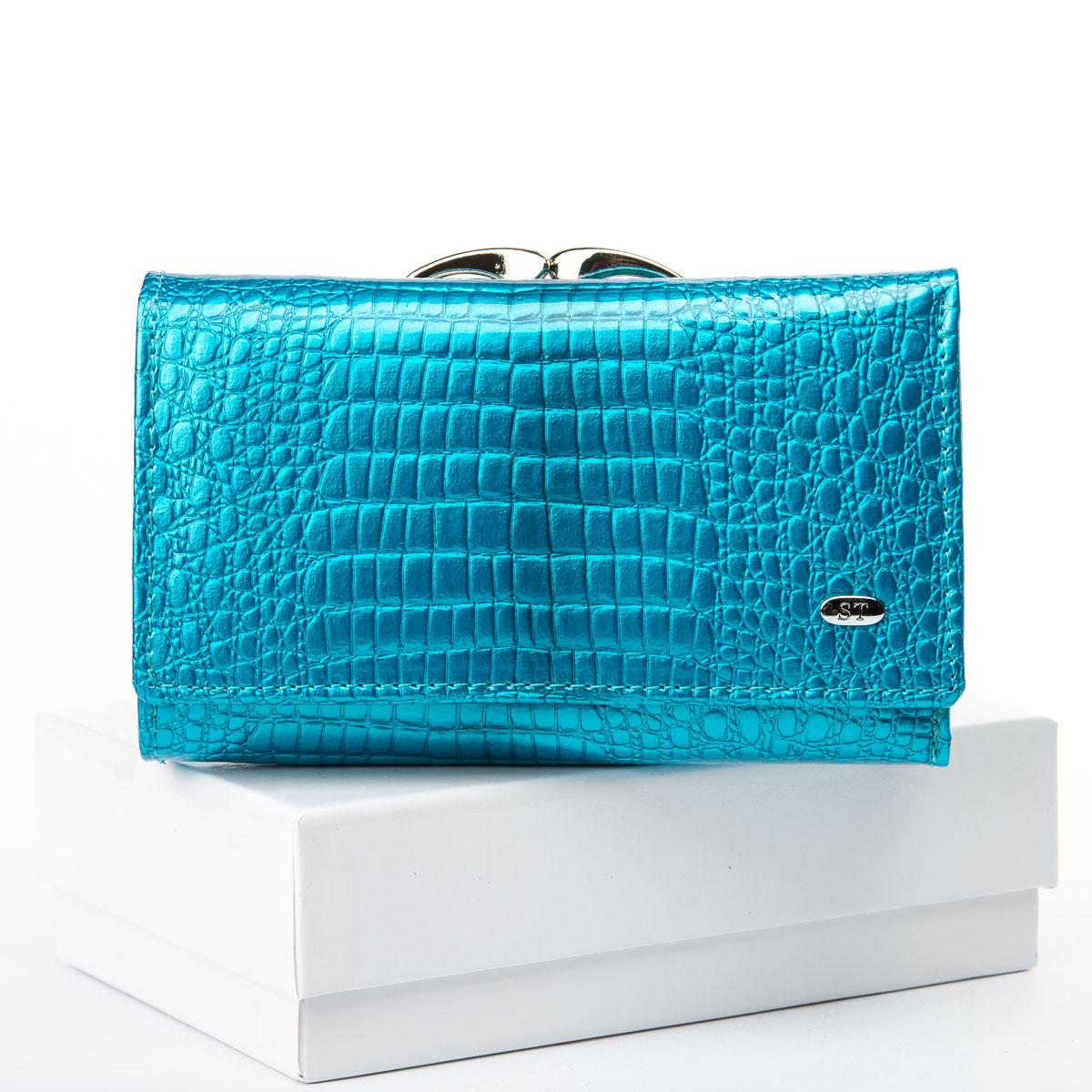 Кошелек LR кожа-лак SERGIO TORRETTI WS-10 light-blue