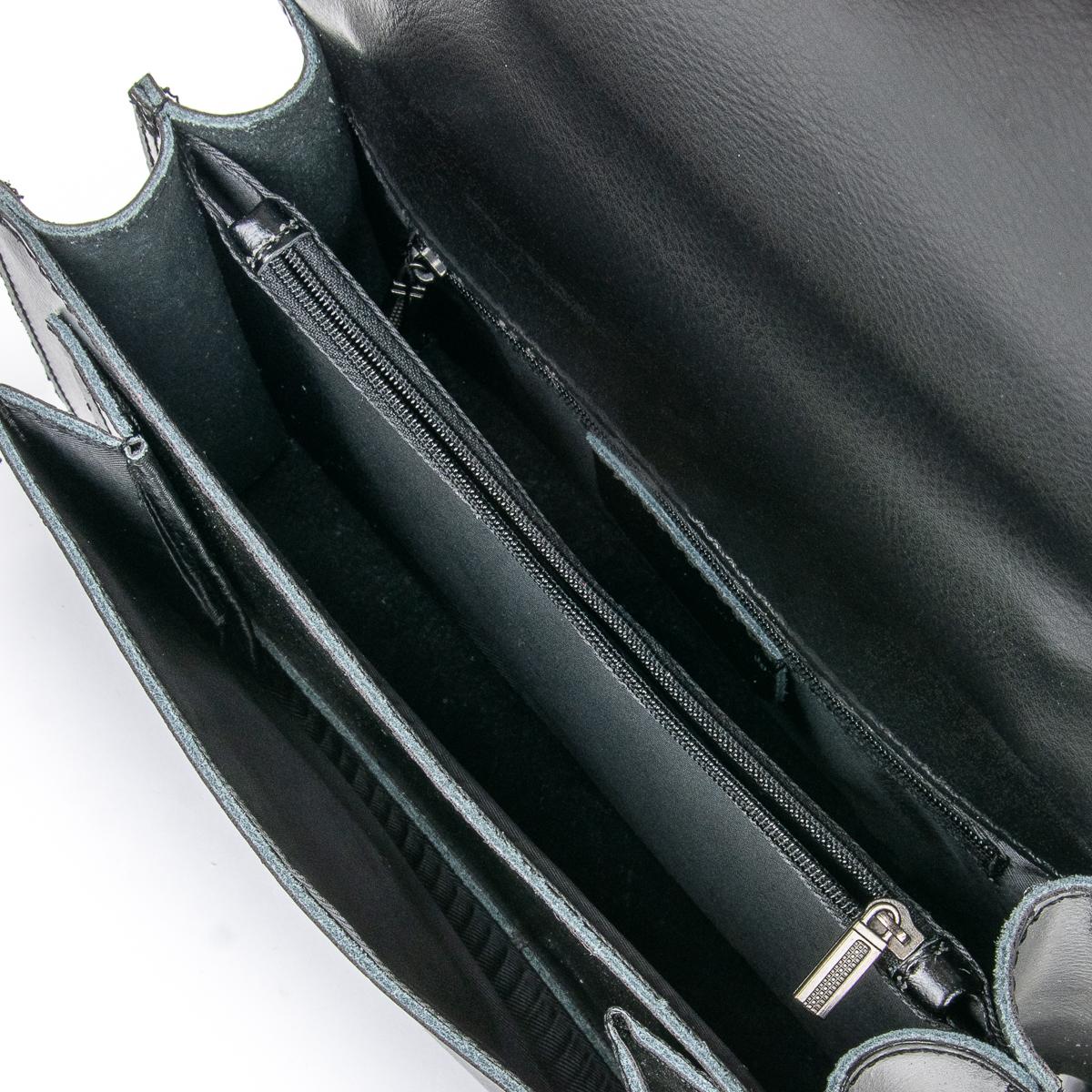 Сумка Женская Клатч кожа ALEX RAI 06-1 8543 black - фото 5