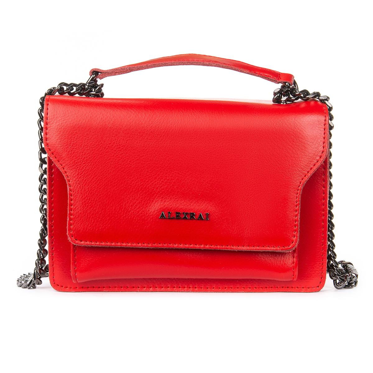 Сумка Женская Клатч кожа ALEX RAI 06-1 8543 red