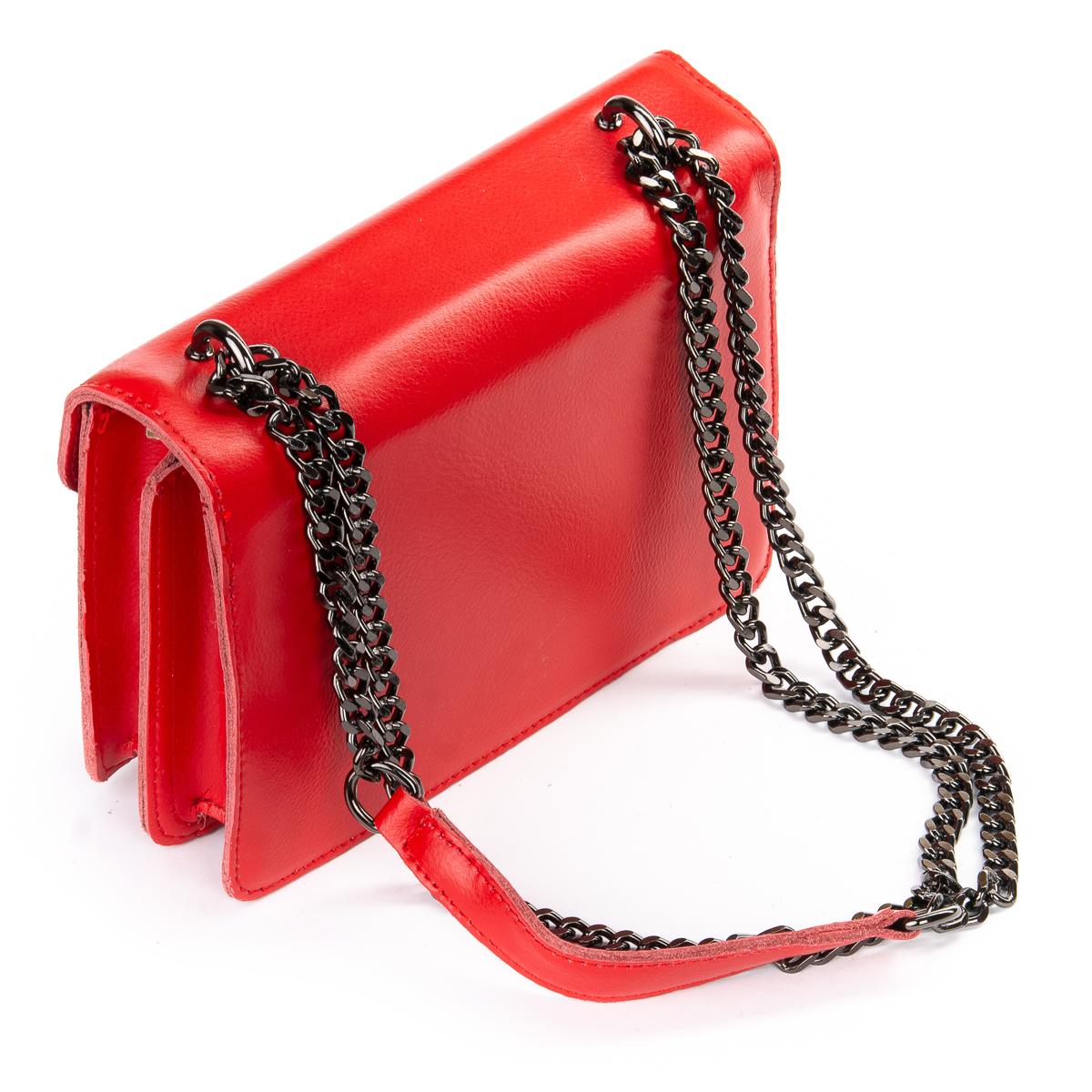 Сумка Женская Клатч кожа ALEX RAI 06-1 8543 red - фото 4